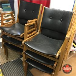 Vintage Stacking Chairs (6)