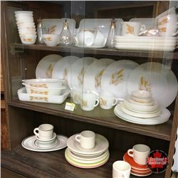 Fire King Dish Set & Variety of Medalta Dishes