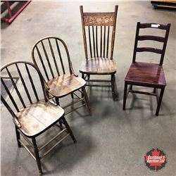 Variety of Wooden Chairs (4)