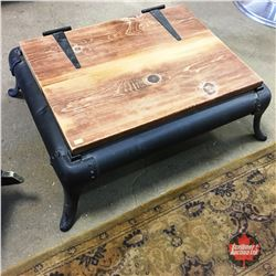 Repurposed Stove Base / Coffee Table w/Storage
