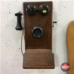 Northern Electric Wood Box Telephone