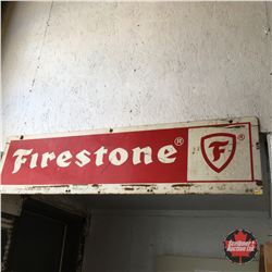 Double-Sided Tin Firestone Sign (4' x 1')