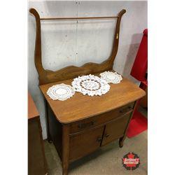 Oak Harp Back Wash Stand