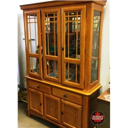 Light Up China Cabinet (Missing Glass Shelves)