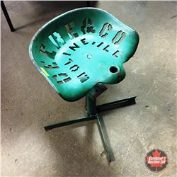 """Deere & Co Moline, ILL"" Cast Iron Implement Seat (Modified to Stool)"