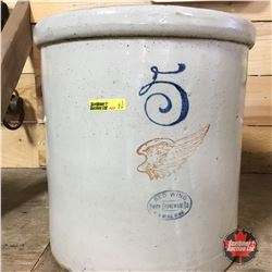5 Gal Crock Red Wing (Cracked)