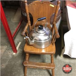 Wooden High Chair w/Kettle