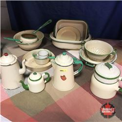 GSW Emerald Enamelware Collections (Approx. 15 pcs)