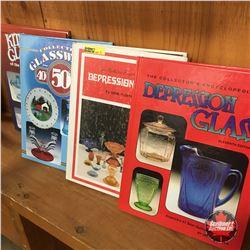4 Reference Books for Depression Glass/Glassware