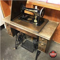 Singer Treadle Sewing Machine (S/N#JA363795) (JA=St. Johns, NFLD)