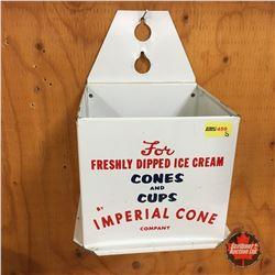 """""""Imperial Cone"""" Tin Ice Cream Cone Dispenser"""