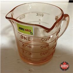 """Depression Glass (Pink) Measuring Cup """"Kellogg's"""""""