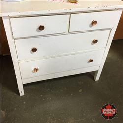 White Painted 4 Drawer Dresser