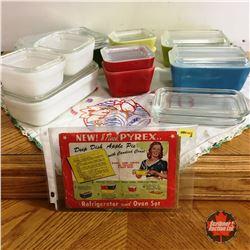 Pyrex Refrigerator Set & Pieces (Incl. original Pyrex Insert w/Recipes)