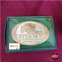 Titan II John Deere Combine Belt Buckle