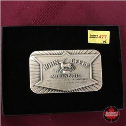 John Deere Moline, ILL Rectangular Belt Buckle (Ladies)