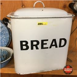 White & Black Enamelware Bread Box