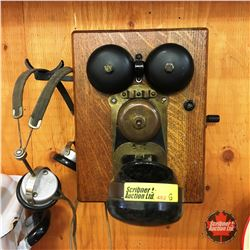 Wood Box Intercom w/Headset