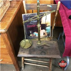 """Wooden Chair w/Apothecary Scale & """"Love Letters"""" Album Set"""