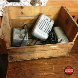 Wooden Box Lot w/3 Drive In Speakers