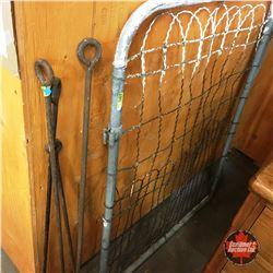 Wire Gate w/Decorative Irons