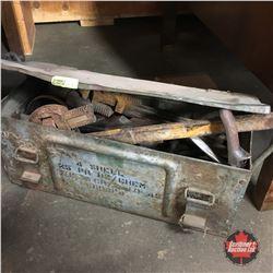 Vintage Ammo Box w/Vintage Tools