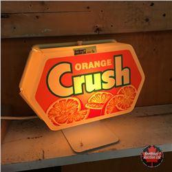 Orange Crush Lightup Cash Register Sign (Slight Crack top/back - not significant)