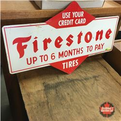 """Double-Sided Firestone Sign (29"""")"""