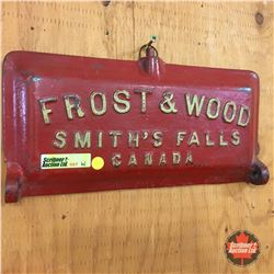 """Antique Implement Toolbox Lids (Cast Iron) (2) """"Frost & Wood"""" & """"Ideal Giant"""""""