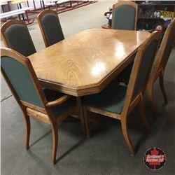Dining Room Table w/6 Chairs & One Leaf & Bonus Table Cloths