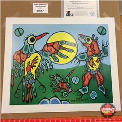 """Limited Edition Prints - Artist : Norval Morrisseau  """"Thunderbird Faces Cave Bear"""""""