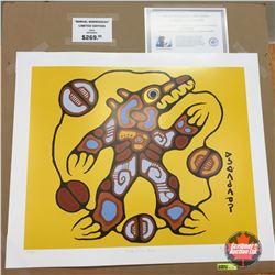 "Limited Edition Prints - Artist : Norval Morrisseau  ""Medicine Bear"""