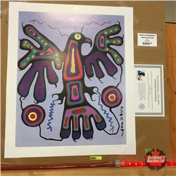 """Limited Edition Prints - Artist : Norval Morrisseau  """"Blue Thunderbird"""""""