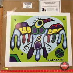 """Limited Edition Prints - Artist : Norval Morrisseau  """"Thunderbird Protects Young"""""""