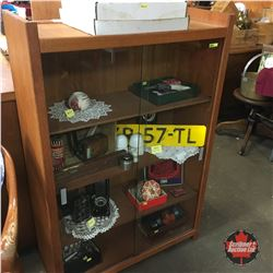 Curio/China/Book Shelf Cabinet (Sliding Glass Doors)