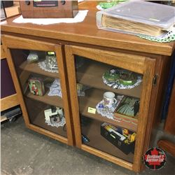 Curio/China/Book Shelf Cabinet (Hinged Glass Doors)