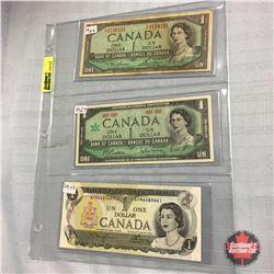 Canada $1 Bill (3) : 1954; 1967; 1973