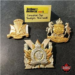 Canadian Cap Badges Post WW2 w/Canadian Parachute Corps