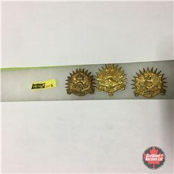 Westminster Regiment Badges (3 Items): Kings Crown; Queens Crown; Royal Queens Crown