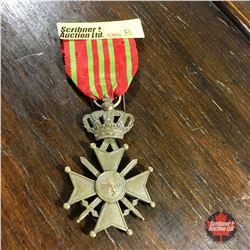 "Belgian WW1 ""Croix De Guerre"" Medal"