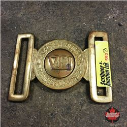 "Regimental Brass Battle Dress Belt Buckle ""VIII"""