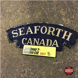 "Canadian Battle Dress Shoulder Flash (Canvas) ""Seaforth Canada"""