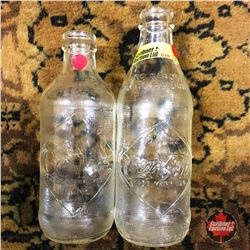 2 Vintage 10oz Coca-Cola Bottles (Note Image Variations)