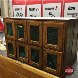 Drug Store 8 Drawer / Glass Front Counter Top Organizer