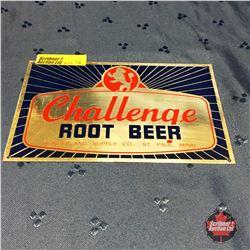 Challenge Rootbeer Tin Plaque (6-1/2  x 4 )