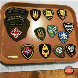 Group of Bde Formation Patches - Mobile Command on Battle Dress & SSF Reformed to 2 Bde