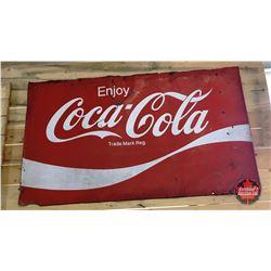 Enjoy Coca-Cola Tin Sign 5' x 3'