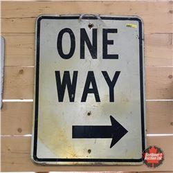 """ONE WAY ? "" Street Sign 18"" x 24"""