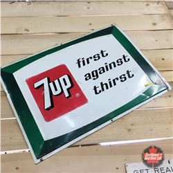1969 First Against Thirst Tin Sign 28  x 20