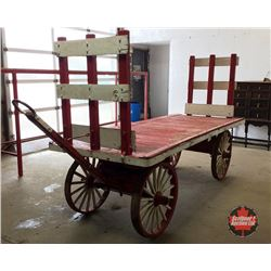 Train Station Luggage Cart 10'  (Painted Red & White - Firestone)